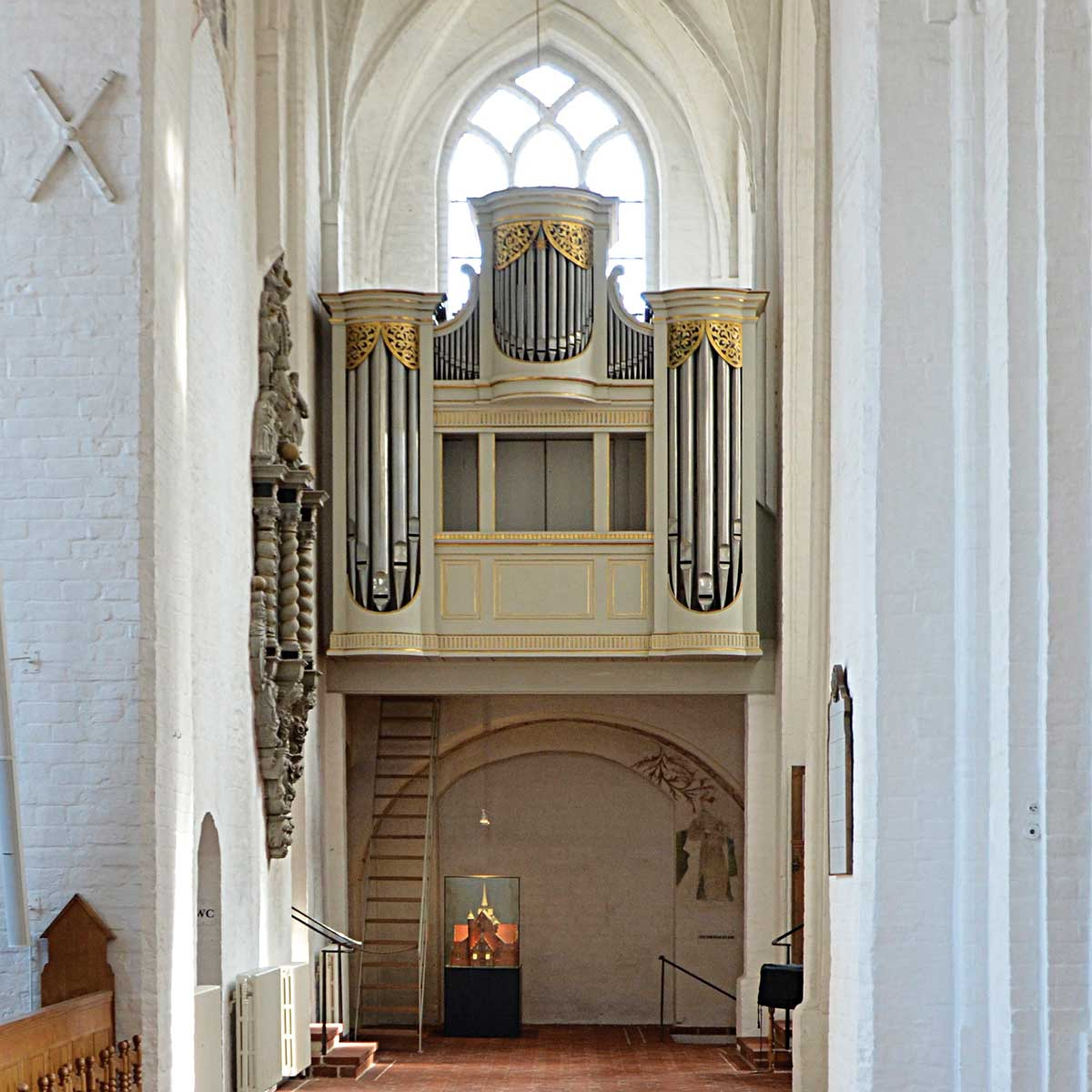 Marcussens første store pipeorgel Sieseby kirke 1819