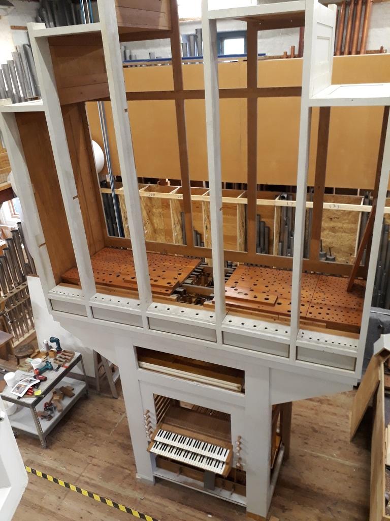 Marcussen orgel til salg_fra montage